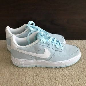 Nwt Nike Air Force Light Blue Suede